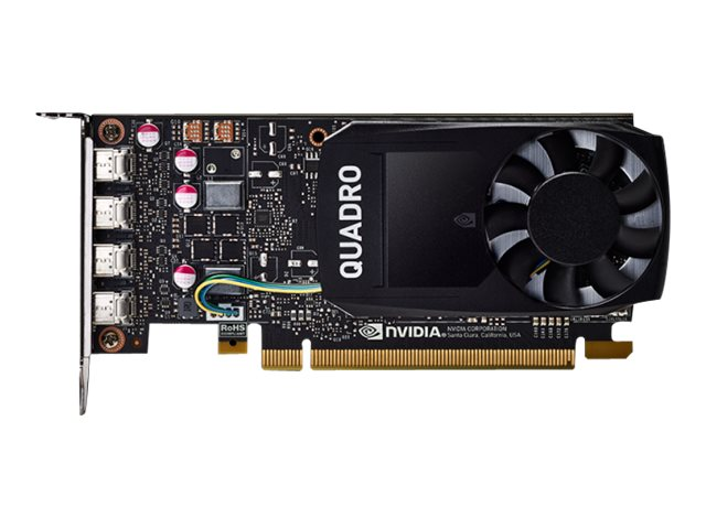 NVIDIA Quadro P1000 DVI - Grafikkarten - Quadro P1000 - 4 GB GDDR5 - PCIe 3.0 x16 Low-Profile - 4 x Mini DisplayPort