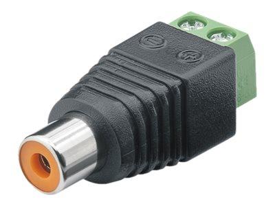 M-CAB - Video-/Audioanschluss - RCA (W) bis 2-polige Klemmleiste schraubbar (Packung mit 10)