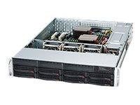 Supermicro SC825 TQC-R802LPB - Rack - einbaufähig - 2U - verbessertes, erweitertes ATX - SATA/SAS