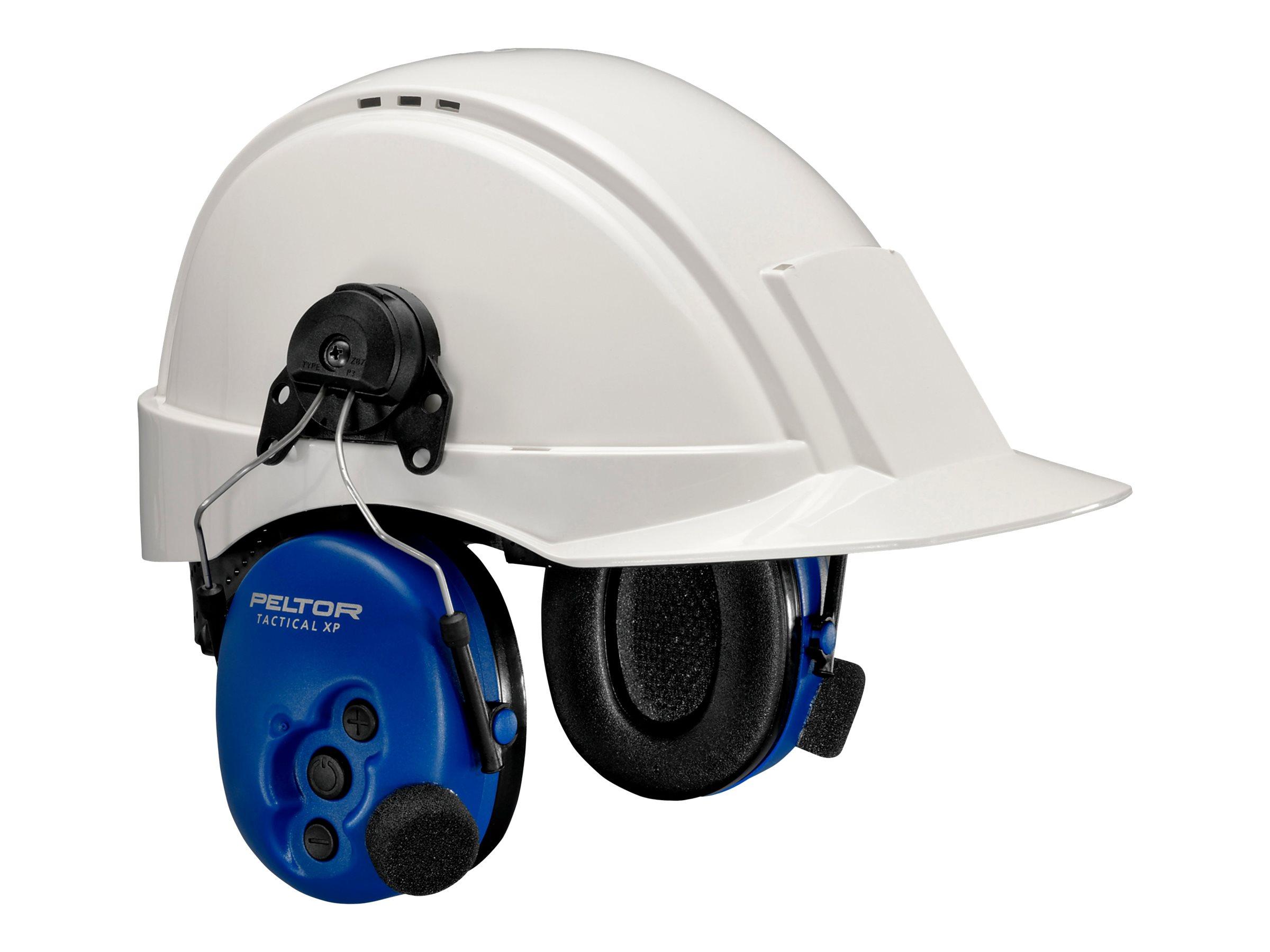 3M Peltor Tactical XP MT1H7P3E2-07 - Headset - am Helm angebracht - kabelgebunden - aktive Rauschunterdrückung - Blau