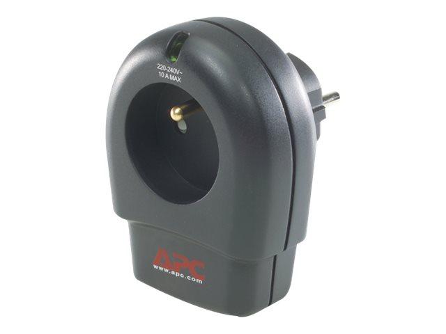 APC SurgeArrest Essential - Überspannungsschutz - Wechselstrom 230 V - Ausgangsanschlüsse: 1 - Belgien, Frankreich - holzkohlefa