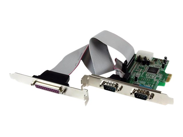 StarTech.com 2S1P Seriell/Parallel RS232 PCI Express Karte mit 16550 UART - DB9/RS-232 PCIe Karte - Adapter Parallel/Seriell - P