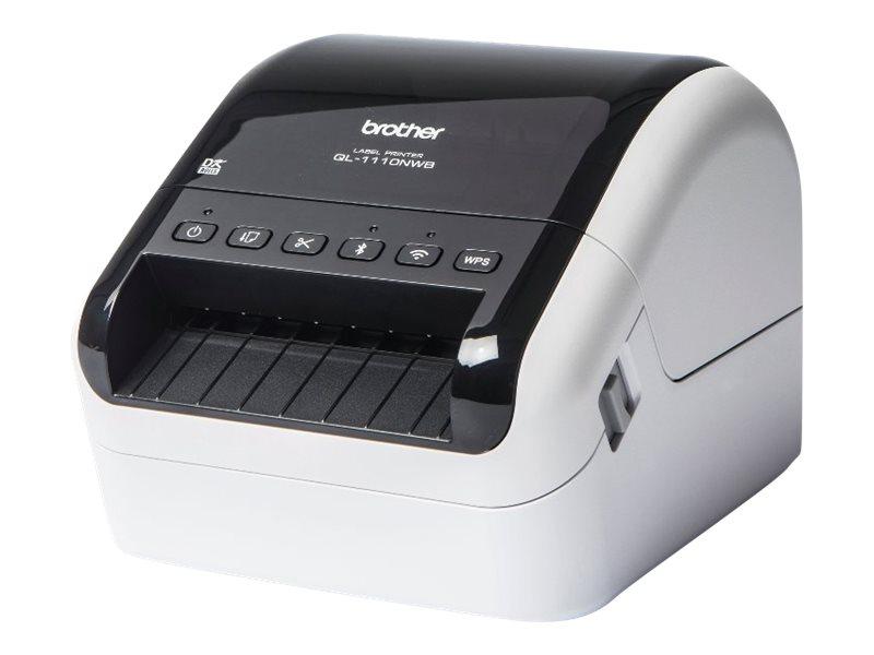 Brother QL-1110NWB - Etikettendrucker - Thermodirekt - Rolle (10,36 cm) - 300 x 300 dpi - bis zu 110 mm/Sek.