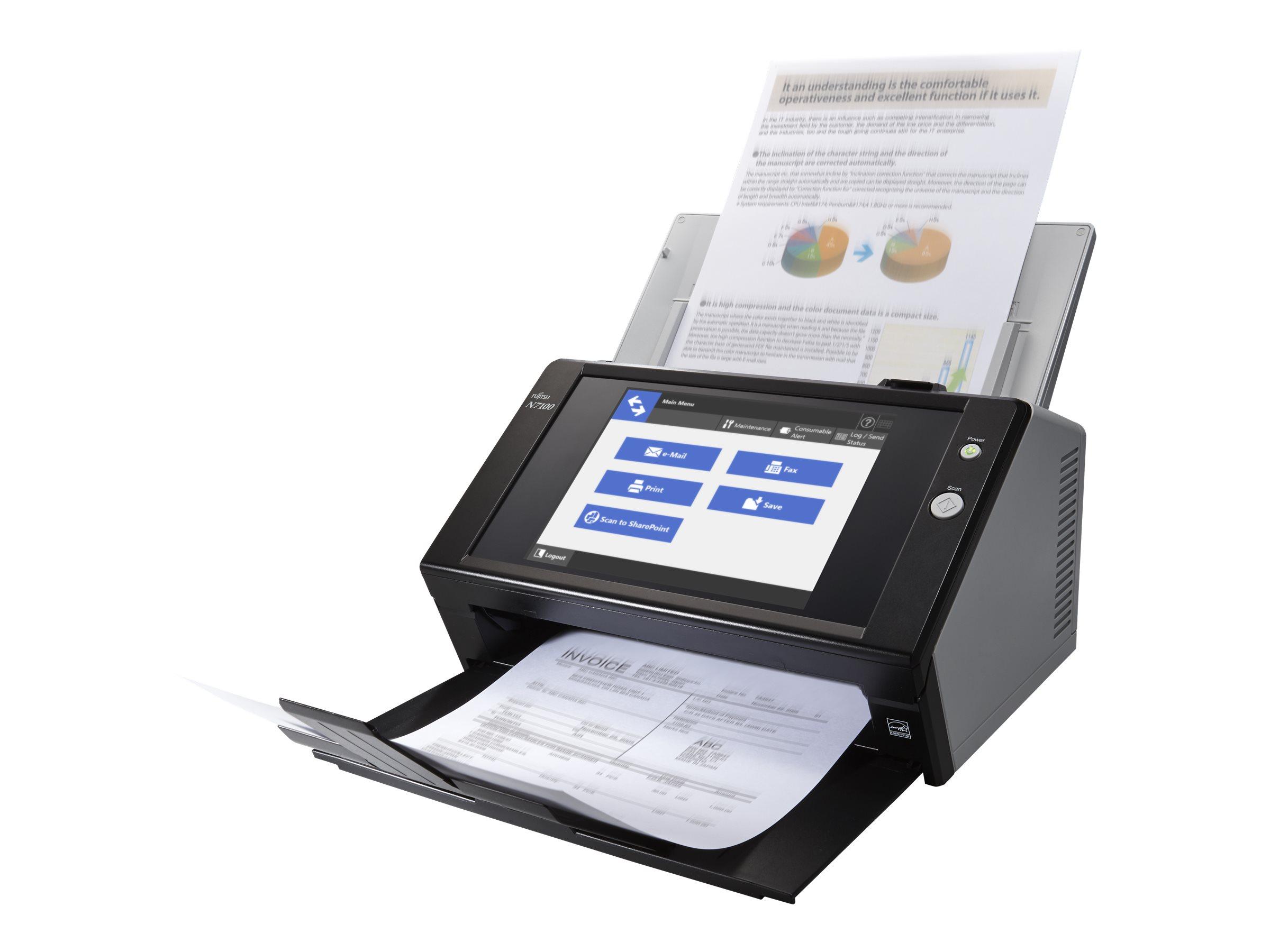 Fujitsu Network Scanner N7100 - Dokumentenscanner - Dual CIS - Duplex - 216 x 355.6 mm - 600 dpi x 600 dpi