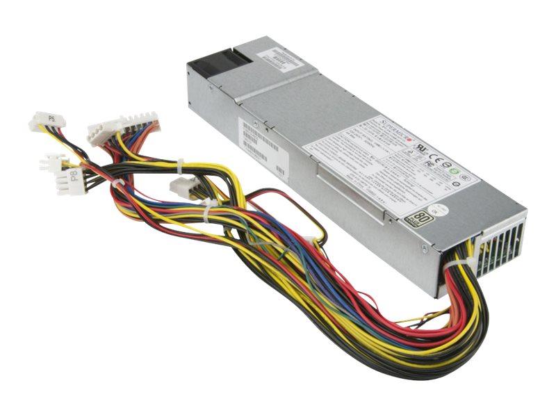 Supermicro PWS-341P-1H - Stromversorgung (intern) - 80 PLUS Platinum - Wechselstrom 100-240 V - 340 Watt - aktive PFC