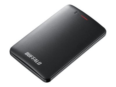 BUFFALO MiniStation SSD-PMU3 - Solid-State-Disk - 120 GB - extern (tragbar) - USB 3.1 Gen 1 - Schwarz