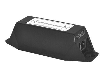 DIGITUS Professional Gigabit PoE Mode Converter - Power Injector - Ausgangsanschlüsse: 1