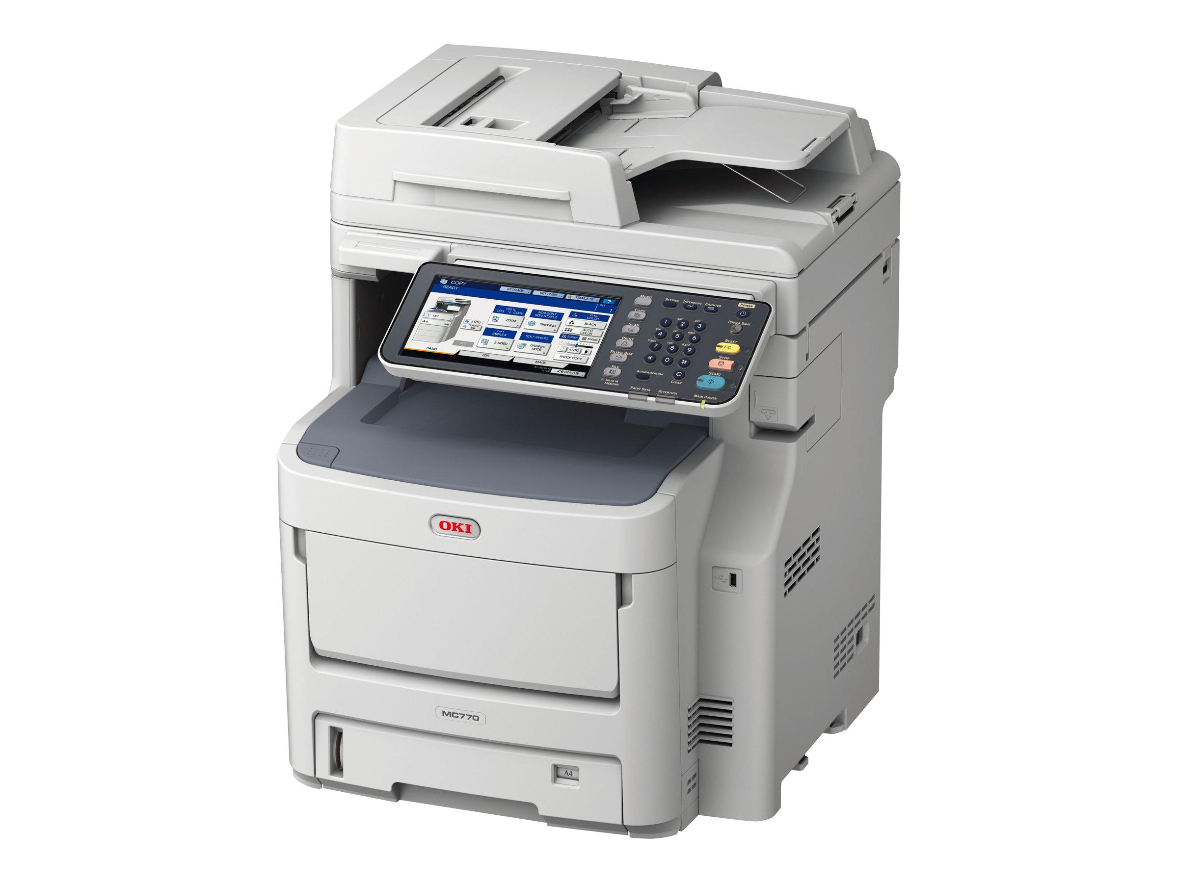 OKI MC770dnfax - Multifunktionsdrucker - Farbe - LED - A4 (210 x 297 mm) (Original) - A4 (Medien)