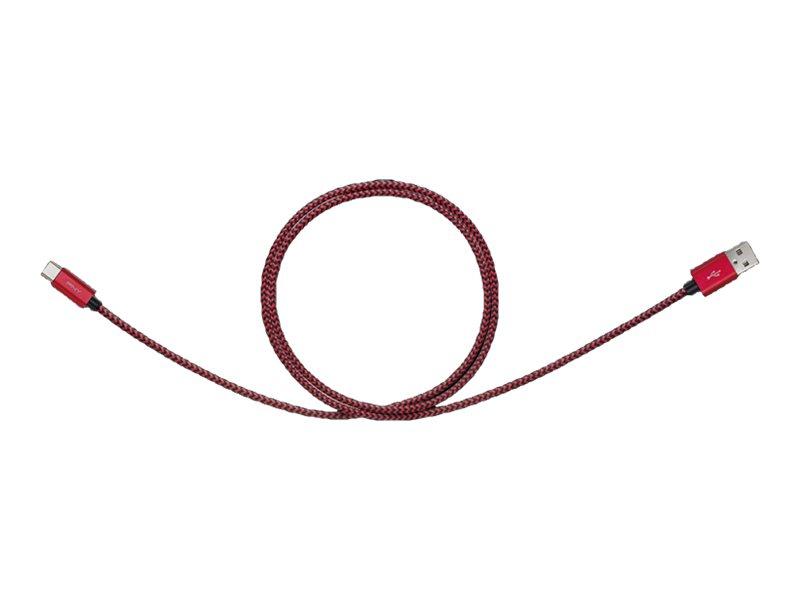 PNY - USB-Kabel - USB Typ A (M) bis USB-C (M) - USB 2.0 - 1 m - Rot