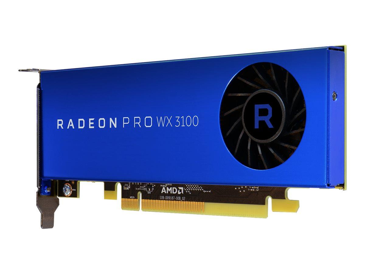 Radeon Pro WX 3100 - Grafikkarten - Radeon Pro WX 3100 - 4 GB GDDR5 - PCIe 3.0 x16 - 2 x Mini DisplayPort, DisplayPort