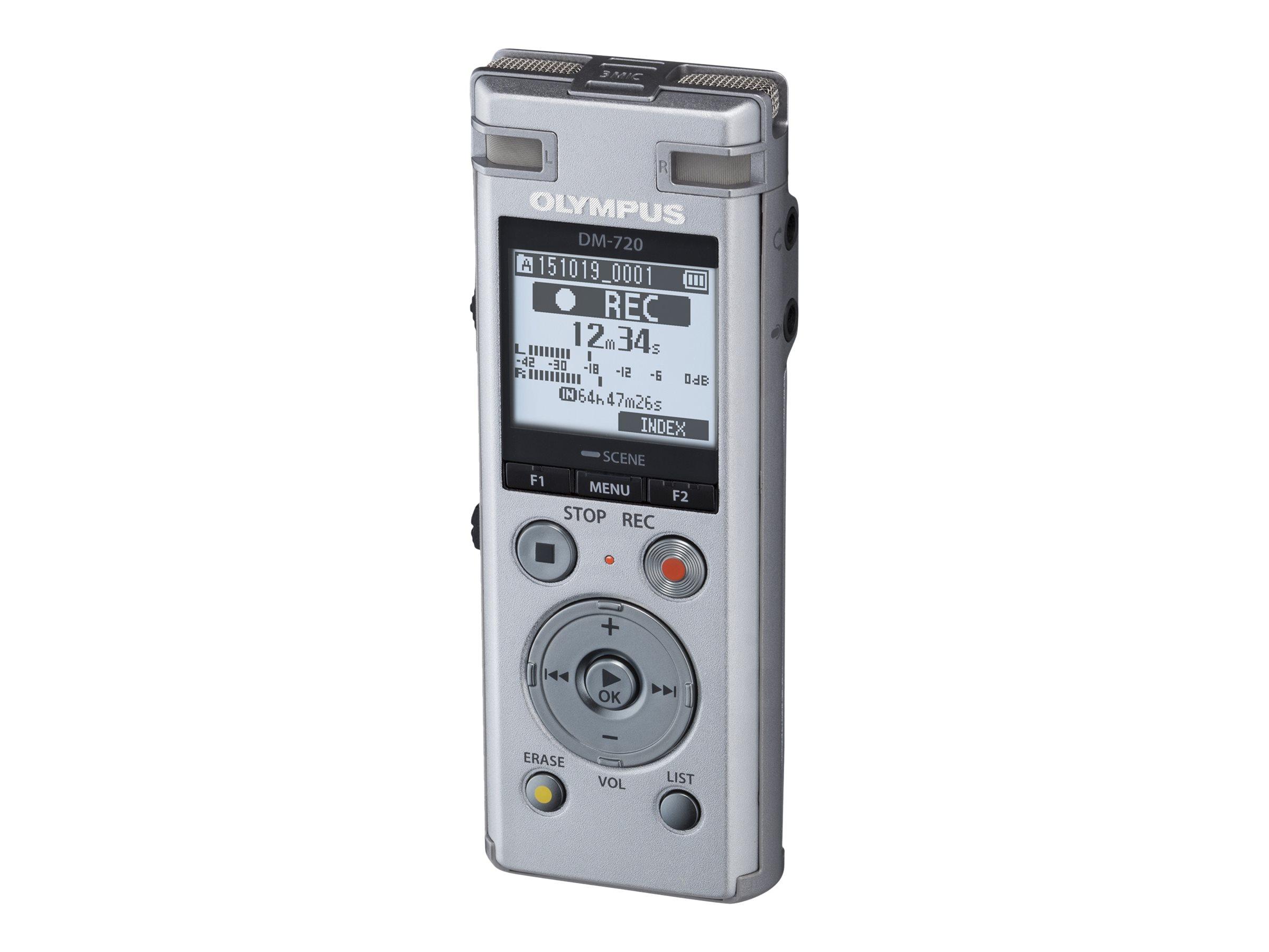 Olympus DM-720 - Voicerecorder - 4 GB - Silber