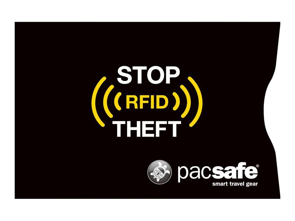 Pacsafe RFIDsleeve 25 RFID-blocking - Schutzhülle - Aluminium, Papier - Schwarz (Packung mit 2)