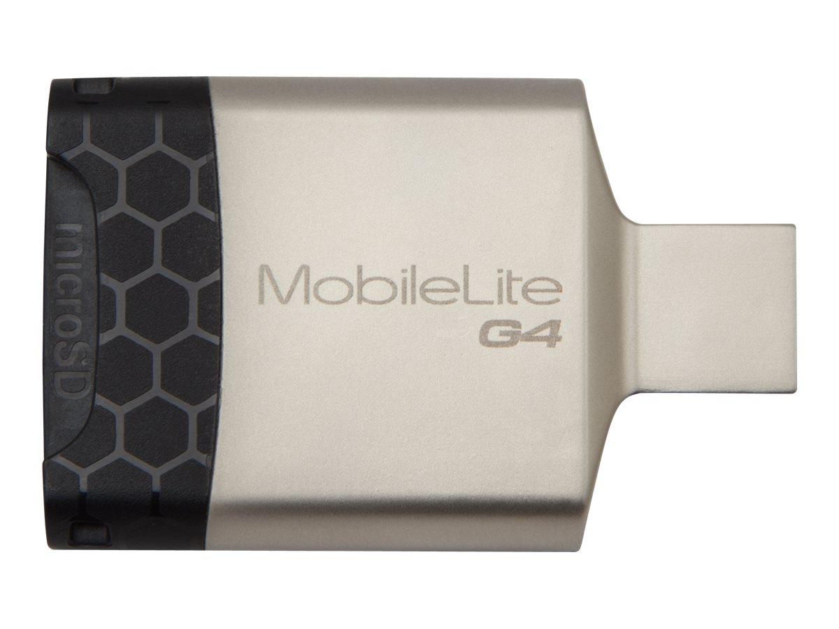 Kingston MobileLite G4 - Kartenleser (SD, microSD, SDHC, microSDHC, SDXC, microSDXC, SDHC UHS-I, SDXC UHS-I, microSDHC UHS-I, mi