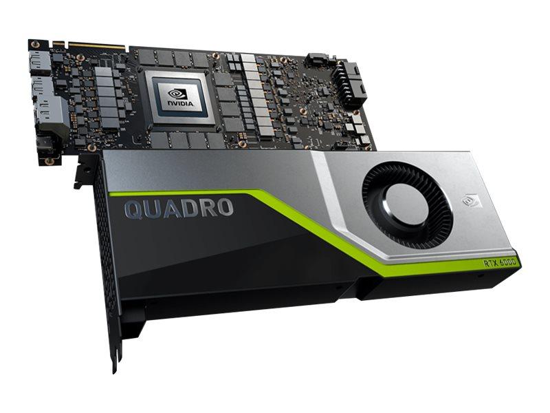 NVIDIA Quadro RTX 6000 - Grafikkarten - Quadro RTX 6000 - 24 GB GDDR6 - PCIe 3.0 x16 - 4 x DisplayPort, USB-C