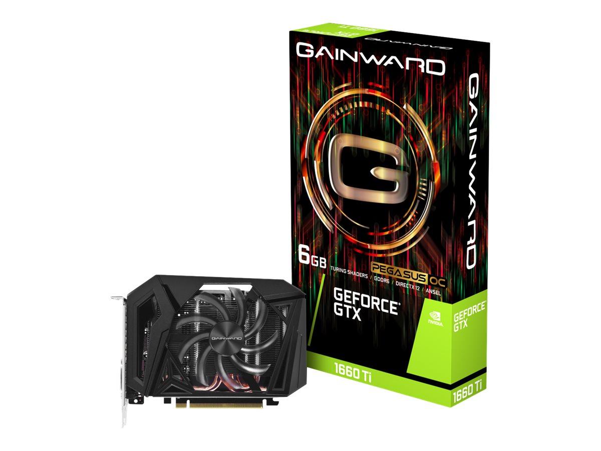 Gainward GeForce GTX 1660 Ti Pegasus OC - Grafikkarten - GF GTX 1660 Ti - 6 GB GDDR6 - PCIe 3.0 x16 - DVI, HDMI, DisplayPort