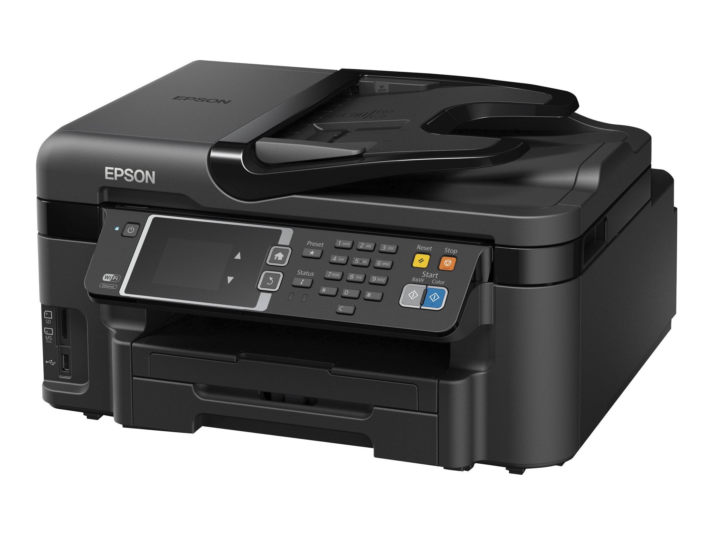 Epson WorkForce WF-3620DWF - Multifunktionsdrucker - Farbe - Tintenstrahl - A4/Legal (Medien) - bis zu 19 Seiten/Min. (Drucken)