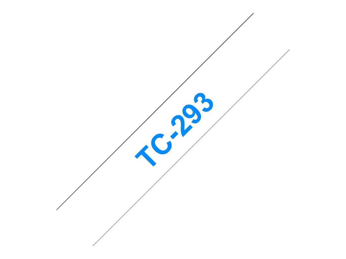 Brother - Weiss, Blau - Rolle (0,9 cm x 7,7 m) 1 Stck. Druckerband - für P-Touch PT-15, PT-20, PT-2000, PT-3000, PT-500, PT-5000