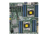 SUPERMICRO X10DRH-CT - Motherboard - Erweitertes ATX - LGA2011-v3-Sockel - 2 Unterstützte CPUs - C612