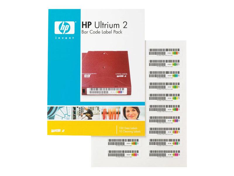 HPE Ultrium 2 - Strichcodeetiketten - für StorageWorks MSL2024, MSL4048, MSL6030; StorageWorks 1/8 G2 Tape Autoloader