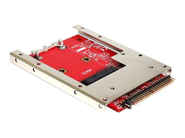 DeLOCK Converter IDE 44 Pin > mSATA with 2.5? Frame - Speicher-Controller - mSATA (6.4 cm) - mSATA - ATA