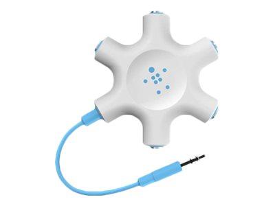 Belkin RockStar - Kopfhörer-Splitter - Stereo Mini-Klinkenstecker (M) bis Stereo Mini-Klinkenstecker (W) - 61 cm - Blau