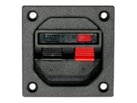 Visaton PT 57 NG - Lautsprecher-Klemmleiste - 10 mm² - Schwarz, Rot