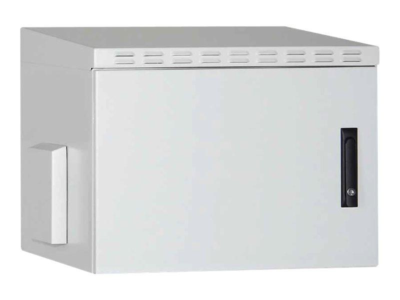 Digitus DN-19 07U-I-OD - Gehäuse - geeignet für Wandmontage - Grau, RAL 7035, Pulverbeschichtung - 16U (19