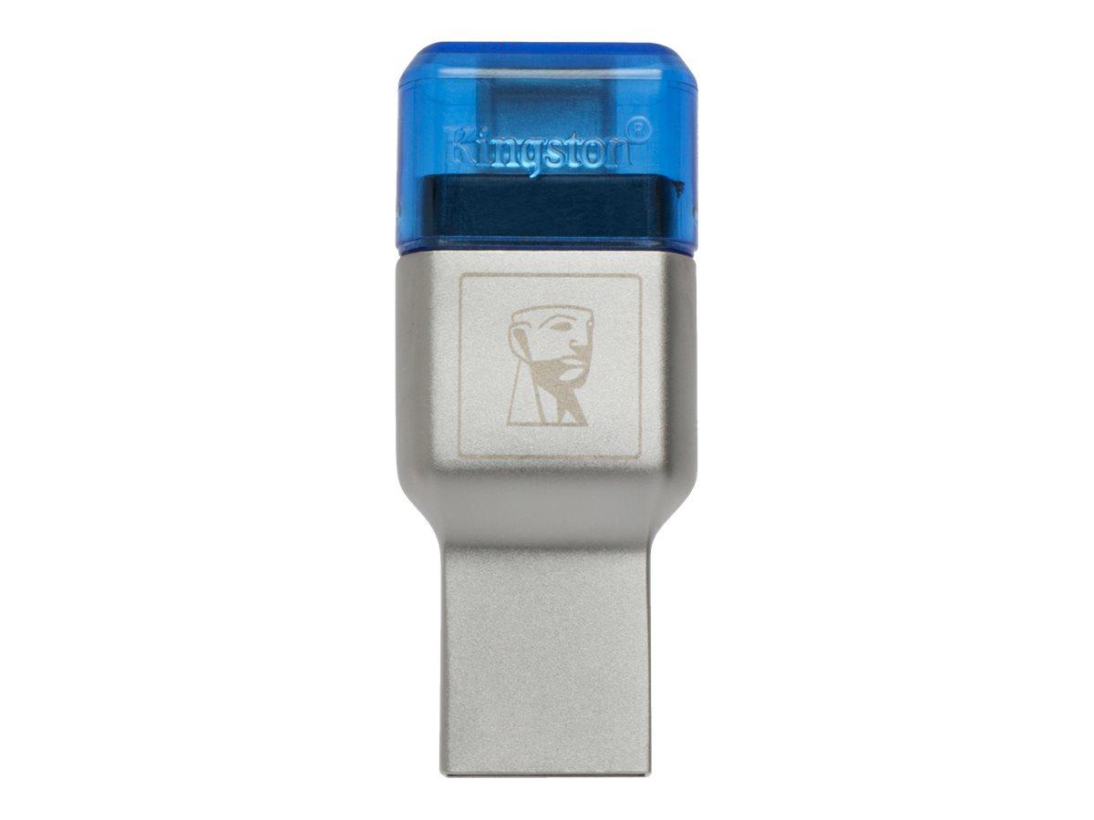 Kingston MobileLite Duo 3C - Kartenleser (microSD, microSDHC UHS-I, microSDXC UHS-I) - USB 3.1 Gen 1 - für Apple MacBook (Early