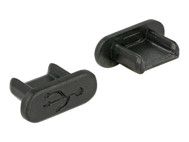 DeLOCK Dust Cover for USB 2.0 Micro-B Female - Schutzumschlag - Schwarz