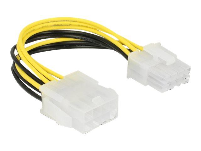 DeLOCK - Stromkabel - 8-poliges EPS12V (M) bis 8-poliges EPS12V (W) - 12 V - 15 cm