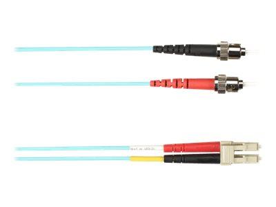 Black Box - Patch-Kabel - ST multi-mode (M) bis LC Multi-Mode (M) - 20 m - Glasfaser - Aquamarin