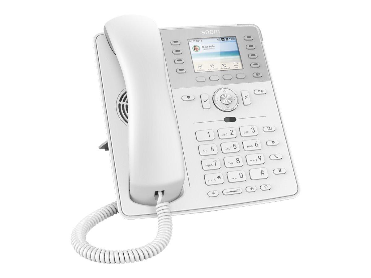 snom D735 - VoIP-Telefon - dreiweg Anruffunktion - SIP, RTCP - 12 Leitungen - weiss
