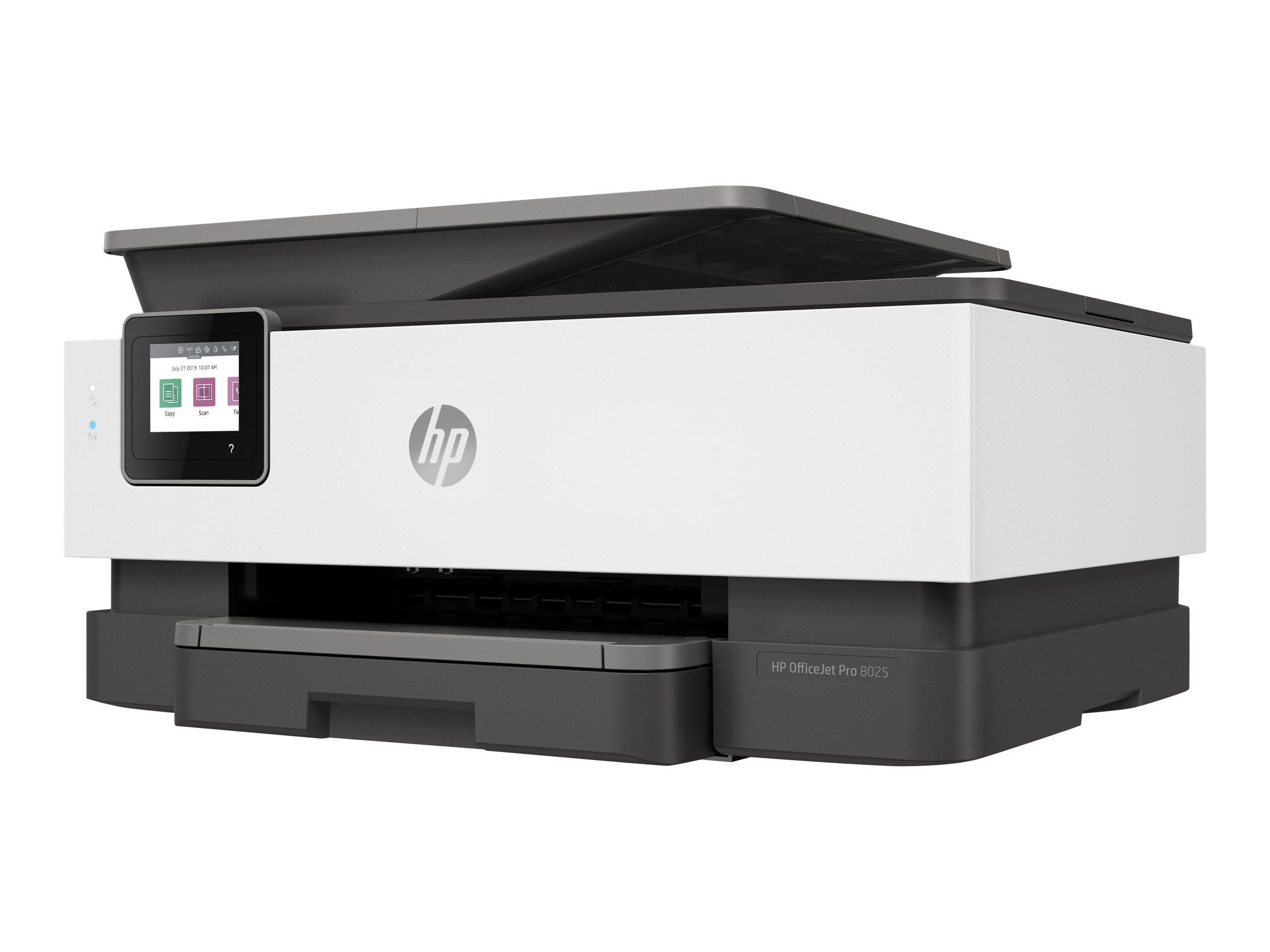 HP Officejet Pro 8025 All-in-One - Multifunktionsdrucker - Farbe - Tintenstrahl - 216 x 297 mm (Original) - A4/Legal (Medien)