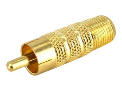 StarTech.com RCA auf F-Typ Koaxial-Adapter - St/Bu - Videoanschluss - composite video - RCA (M) bis F-Stecker (W) - Gold