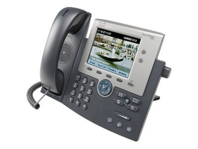 Cisco Unified IP Phone 7945G - VoIP-Telefon - SCCP, SIP - 2 Leitungen - Silber, Dunkelgrau - mit 1 x Benutzerlizenz für Cisco Ca