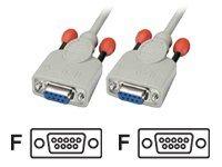 Lindy - Nullmodemkabel - DB-9 (W) bis DB-9 (W) - 10 m - geformt