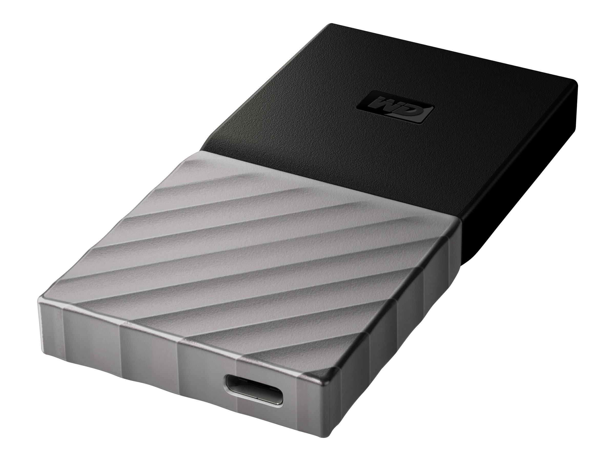 WD My Passport SSD WDBK3E0010PSL - Solid-State-Disk - verschlüsselt - 1 TB - extern (tragbar) - USB 3.1 Gen 2 (USB-C Steckverbin