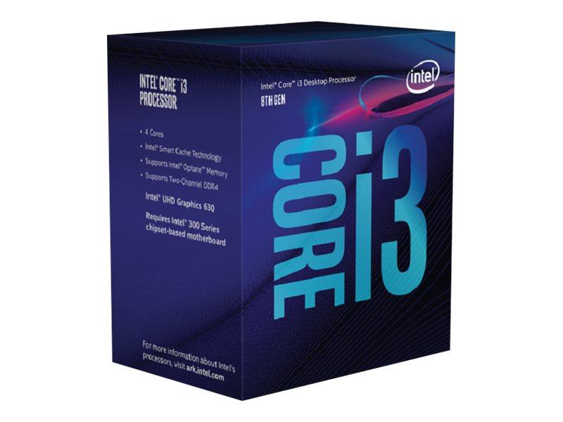 Intel Core i3 8100 - 3.6 GHz - 4 Kerne - 4 Threads - 6 MB Cache-Speicher - LGA1151 Socket