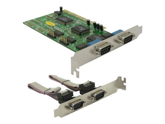 DeLock PCI Card 4x Serial - Serieller Adapter - PCI - RS-232 x 4