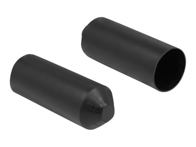 DeLOCK - Kabelschutzkappe - Schwarz (Packung mit 2)