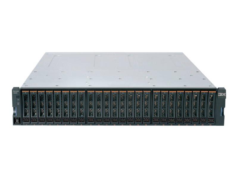 IBM Storwize V3700 - Festplatten-Array - 24 Schächte (SAS) - HDD x 0 - iSCSI (extern) - Rack