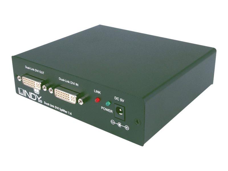 Lindy DVI-D Dual Link Video Splitter - Video-Verteiler - 4 x DVI - Desktop