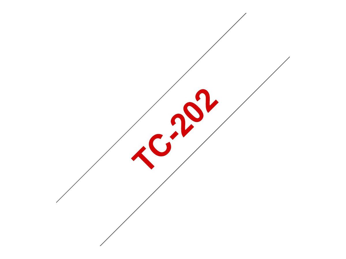 Brother - Weiss, Rot - Rolle (1,2 cm x 7,7 m) 1 Stck. Druckerband - für P-Touch PT-15, PT-20, PT-2000, PT-3000, PT-500, PT-5000,