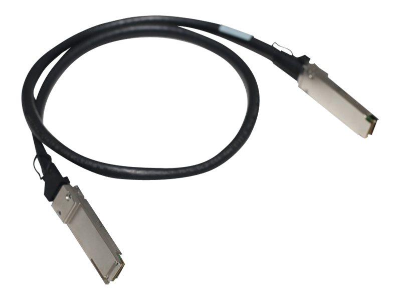 HPE X240 Direct Attach Cable - Netzwerkkabel - QSFP+ bis QSFP+ - 1 m - für HPE SN2100M 100, SN2410M 25; Apollo 4200, 4200 Gen10;
