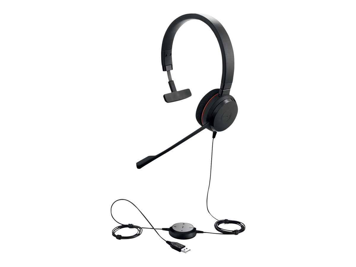 Jabra Evolve 20 MS mono - Headset - On-Ear - kabelgebunden - USB