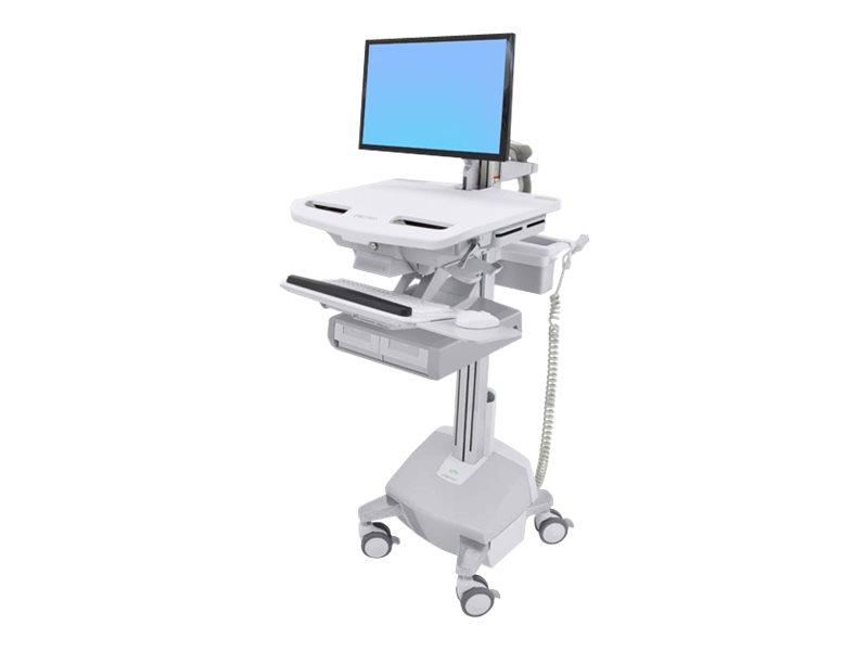 Ergotron Cart with LCD Arm, LiFe Powered, 2 Drawers - Wagen für LCD-Display/Tastatur/Maus/CPU/Notebook/Barcodescanner (offene Ar