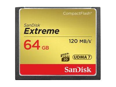 SanDisk Extreme - Flash-Speicherkarte - 64 GB - 567x - CompactFlash