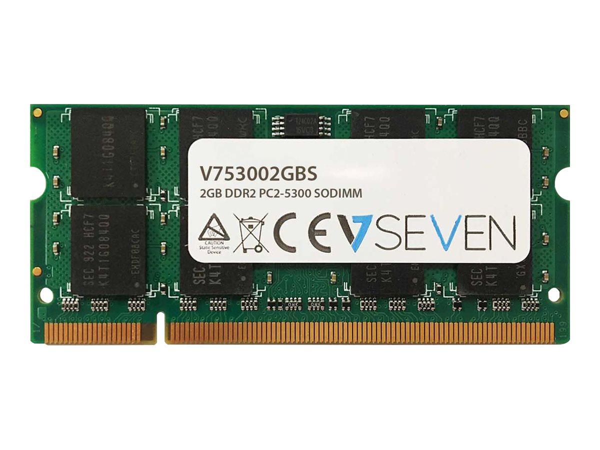 V7 - DDR2 - 2 GB - SO DIMM 200-PIN - 667 MHz / PC2-5300 - ungepuffert