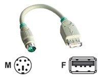 Lindy - Maus-Anschluss - USB (W) bis PS/2 (M) - 15 cm