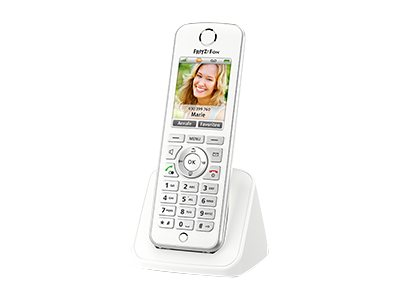 AVM FRITZ!Fon C4 - Schnurloses VoIP-Telefon - Internetradio, Netzwerk-Audioplayer - DECT\GAP - SIP - weiss